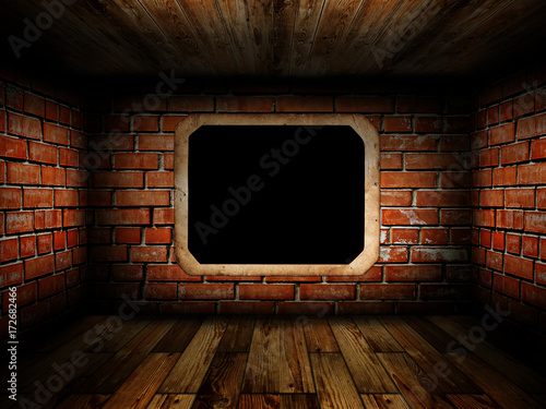 old room with brick wall - 172682466