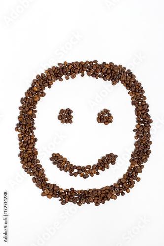 Fotobehang Koffiebonen Smile from coffee beans