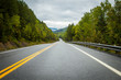 Highway in Gaspe Quebec