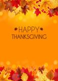 Abstract Vector Illustration Autumn Happy Thanksgiving Backgroun - 172744291