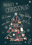 Merry Christmas Greeting Card - 172747269