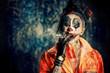 smoking punk clown