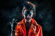 fearful dead clown