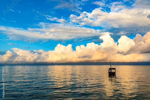 Foto op Plexiglas Zanzibar Zanzibar Island in Tanzania at morning. Zanzibar is a semi-autonomous region of Tanzania in East Africa.