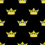 Crown Embroidery Seamless Pattern