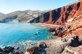 Red beach on Santorini island, Greece. - 172788210