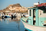 Fishing boat in the port Castelsardo, Sardinia in Italy. - 172788441