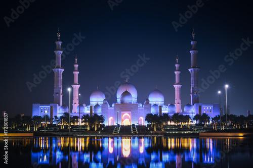 Spoed canvasdoek 2cm dik Abu Dhabi mosque