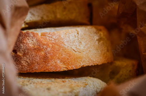 home made bread close up view - healthy & fresh ingredients Poster