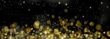 fond de lumières abstraites  dorée dans la nuit