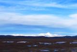 snow mountains against beautiful blue cloud sky - 172814847
