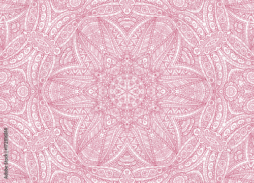 Abstract concentric outline pink pattern - 172816814