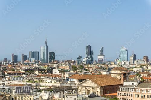 Keuken foto achterwand Milan Milan skyline with modern skyscrapers