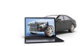 car diagnostic concept black car studio view 3d render image - 172820478