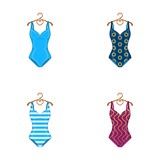 Different kinds of swimsuits. Swimsuits set collection icons in cartoon style vector symbol stock illustration web. - 172820493