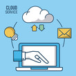 Cloud computing service icon vector illustration graphic dsign