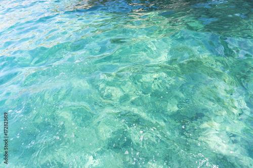 Texture of blue serene calm sea surface