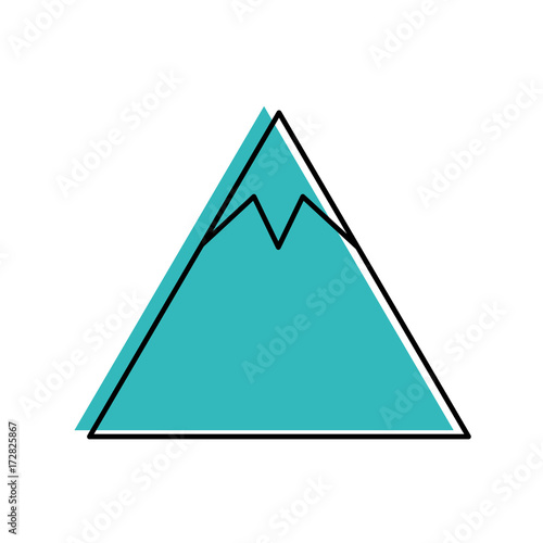 Foto op Canvas Wit mountain peak natural land environment vector illustration