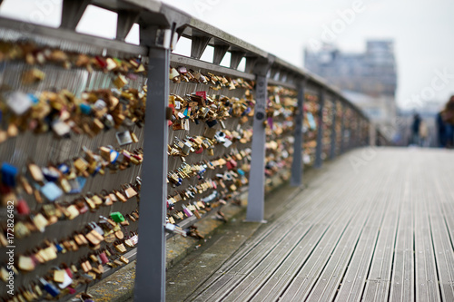 Fridge magnet Love locks bridge Paris France