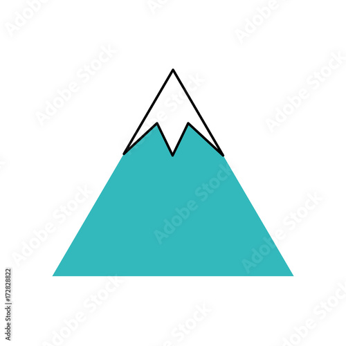 Foto op Canvas Wit mountain peak natural land environment vector illustration