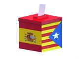 Spanish election ballot box Catalonia - 172832099