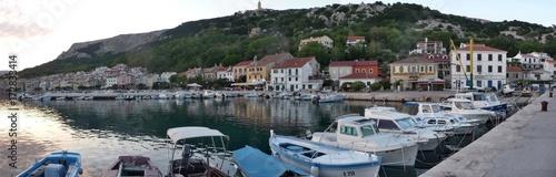 Fototapeta Baska berth, mole, pier, Krk island, Croatia