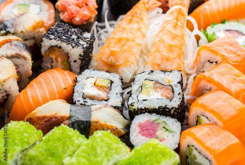 Papiers peints Sushi bar Sushi rolls close up