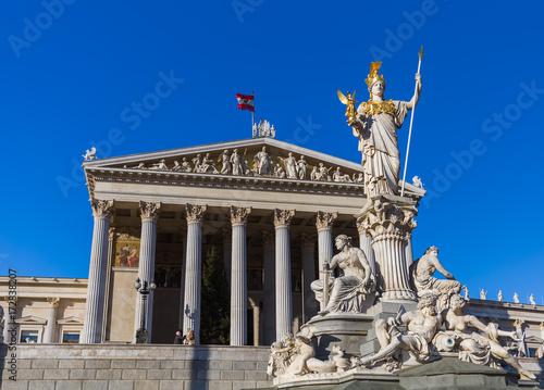 Parliament in Vienna Austria Poster