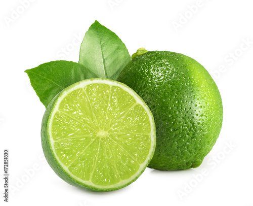 Lime isolated on white background - 172851830