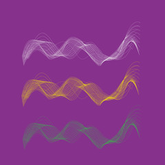 Abstract wawe background. Vector design element.