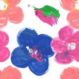 Child flower seamless pattern