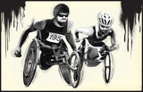 Athletes with physical disabilities - WHEELCHAIR RACING - 172860614