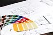 Quadro Farbfäher und Baupläne