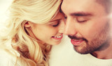 close up of happy couple faces with closed eyes - 172878450