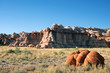 Eroded cliff face, Blue Canyon, Hopi Indian Reservation, Arizona