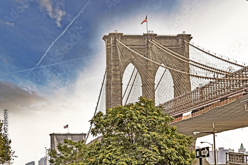 Foto op Canvas New York Brooklyn Bridge, Manhattan, NYC