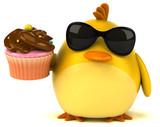 Yellow bird - 3D Illustration - 172921004