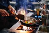 Frying vegetables - 172923211