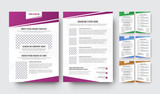 Templates of the front and back pages of the flyer with gradient elements - 172925817