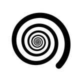 Spiral color black on the white background. Vector illustration - 172929246