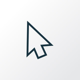 Arrow Outline Symbol. Premium Quality Isolated Cursor Element In Trendy Style. - 172943030