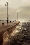 Bora, a stormy wind in Trieste, Italy - 172950840