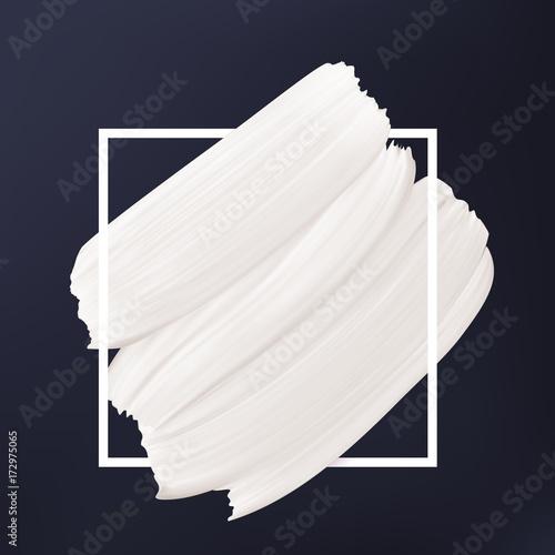 Czarno-biały streszczenie tło. Biały wektor rozmaz w ramce. Płynna tekstura Szablon logo.
