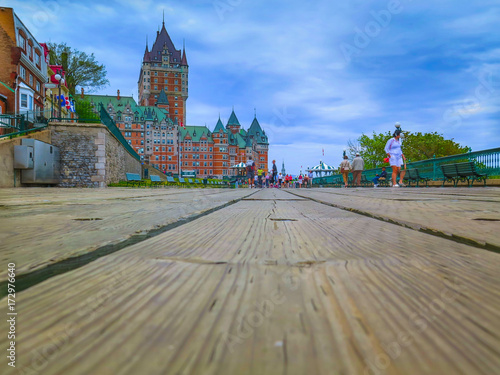 Plakat Quebec City i Frontenac Castle