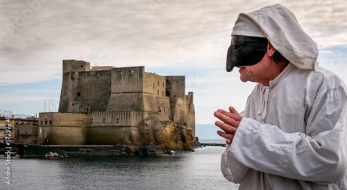 Foto op Canvas Napels Pulcinella traditional Neapolitan mask