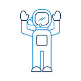 astronaut in space suit character profession mission vector illustration - 172981428