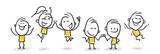 Strichfiguren / Strichmännchen: Jubel, freuen, Teamwork. (Nr. 80) - 172983654