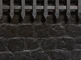 medieval castle gate or wall background 3d illustration - 172990800