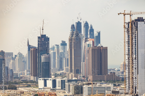 Dubai Marina in der Bauphase Poster
