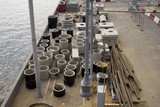 Concrete drainage pipes for industrial building construction. - 173022212